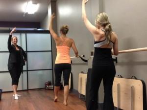 Standing Leg Work in Barre Class