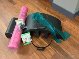 Props, nonskid socks and videos - perfect and easy gifts, available at the studio
