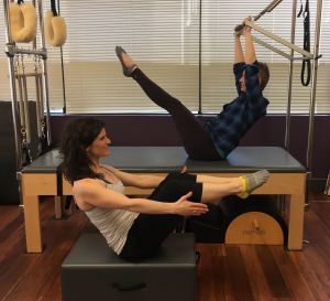 Similar Shapes: Yoga Boat Pose and Pilates Teaser - with spring support